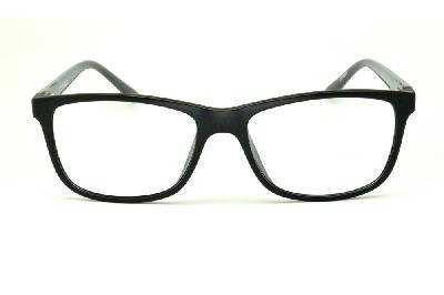 68fef2257009e ... Óculos Atitude em acetato preto com haste cinza escuro flexível de mola  ...