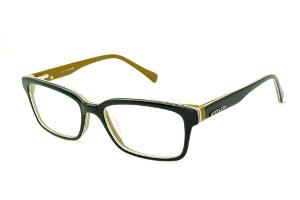 Óculos Atitude em acetato tricolor com haste preta caramelo flexível de mola 385a221de2