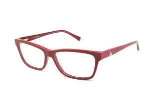 619e47b5d263c Óculos Atitude em acetato vermelho queimado com haste pink flexível de mola