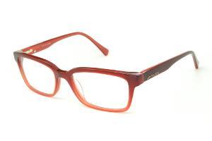d183875be1865 Óculos Atitude em acetato vermelho queimado mesclado com haste flexível de  mola