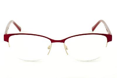 b60ff1d474bb4 ... Óculos Atitude AT1547 estilo gatinho vermelho queimado e dourado com  haste flexível de mola ...