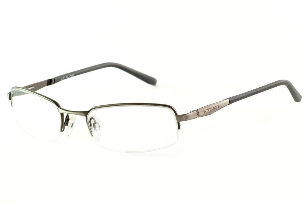 ed10c7bcb Óculos AT1496 Atitude bronze/grafite haste flexível de mola