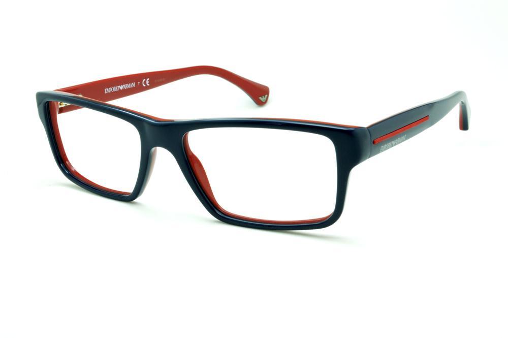b2159a280 Óculos Emporio Armani EA3013 azul piano e vermelho em acetato com haste  flexível de mola