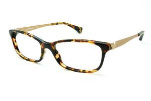 Óculos Emporio Armani EA3031 demi tartaruga efeito onça em acetato com haste  em metal 7eace61e56