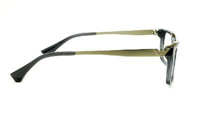 ... Óculos Emporio Armani EA3030 em acetato cinza com haste em metal  dourado opaco ... 355a6e2e1a