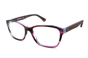 Óculos Emporio Armani EA3060 lilas e roxo camuflado em acetato com haste  efeito borracha ceb4538cb6