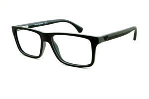 3439490e74d0d Óculos Emporio Armani EA3034 preto e cinza com haste efeito borracha
