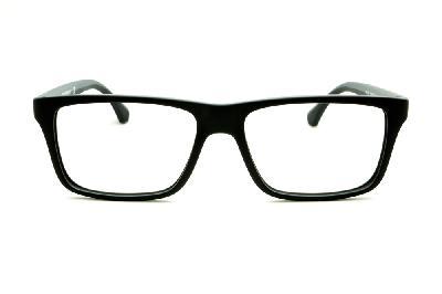356d5f5d27d1e ... Óculos Emporio Armani EA3034 preto e cinza com haste efeito borracha ...