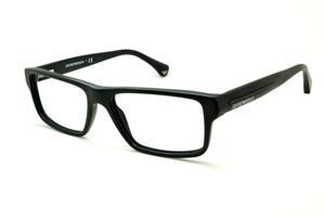 b44048e57788c Óculos Emporio Armani EA3013 preto fosco em acetato com haste efeito  borracha