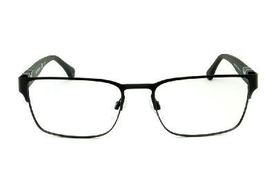 91e3747fb4a2d ... Óculos Emporio Armani EA1027 preto fosco em metal com haste efeito  borracha ...