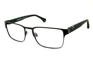 Óculos Emporio Armani EA1027 preto fosco em metal com haste efeito borracha 160062003e