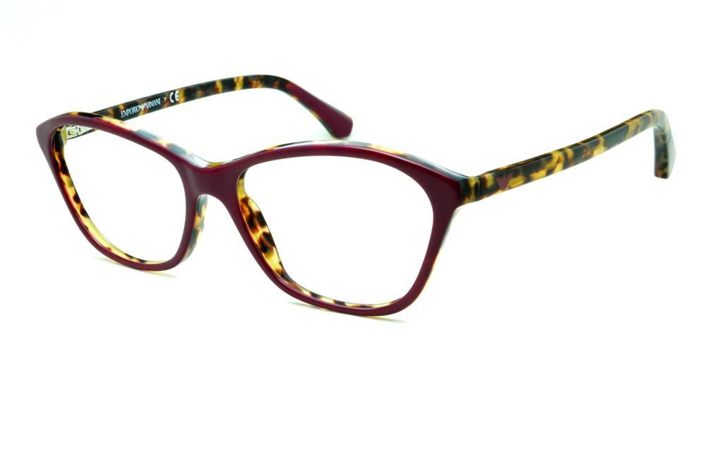 8d50726eea96d Óculos Emporio Armani EA3040 vinho e demi tartaruga efeito onça em acetato