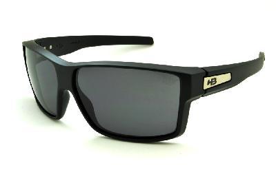 c524701456a7d Óculos HB Big Vert Matte Black preto fosco com lente cinza ...
