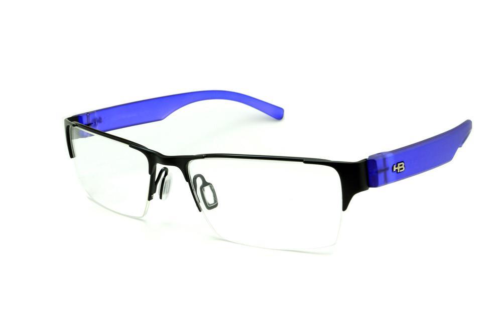 65668a39e325c Óculos HB Black Lucid Blue - Acetato preto e azul transparente e fio de  nylon