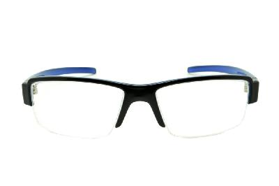 9c9491eec69b9 ... Óculos HB Black On Blue - Acetato preto brilhante e azul e fio de nylon  ...