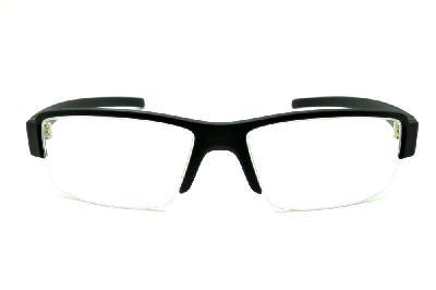 66aa9ebbfdba8 ... Óculos HB Matte Black - Acetato preto fosco detalhe em aço escovado e  fio de nylon ...