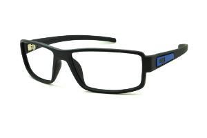 Óculos HB Matte Black Blue - Acetato preto fosco com detalhe azul 93b6864c89