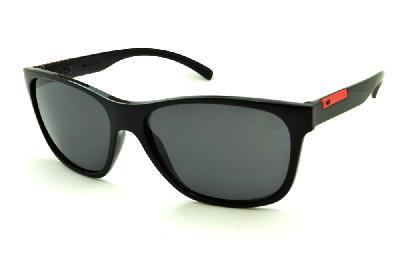 65a532868 Óculos HB Underground Gloss Black/Red preto brilhante emblema vermelho e  lente cinza ...