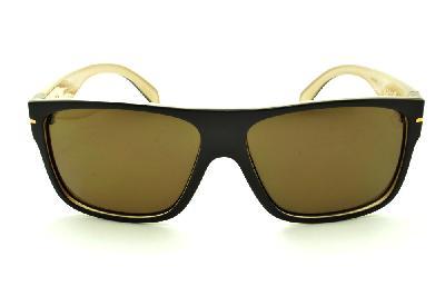 7e162b731bd8d ... Óculos HB Would Café Bege com detalhe dourado e lente marrom ...
