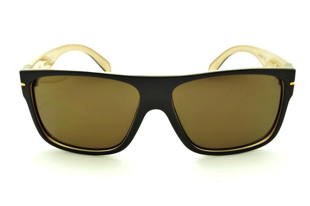 Óculos HB Would Café Bege detalhe dourado e lente marrom 04abda1413
