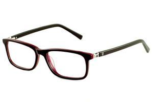 6eb466065f41f Óculos Ilusion acetato preto e vermelho bordô com haste flexível de mola