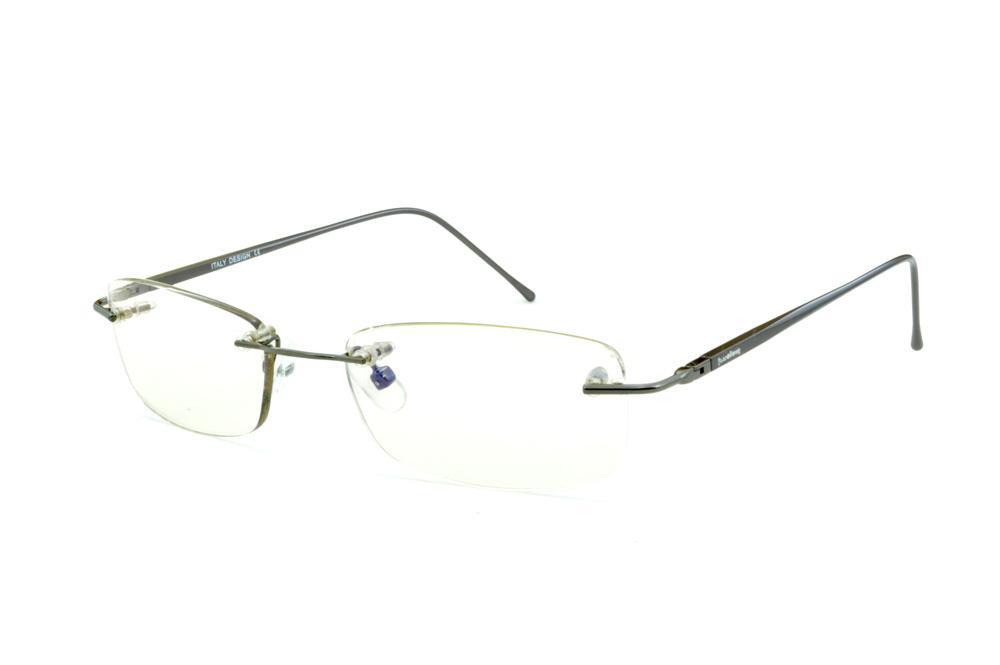 6cc8716b064e8 Óculos Ilusion cor prata silver modelo parafusado com haste flexível de mola