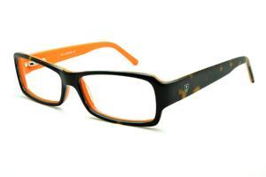 cac5c1deb7f43 Óculos Ilusion demi tartaruga efeito onça e laranja com haste flexível de  mola