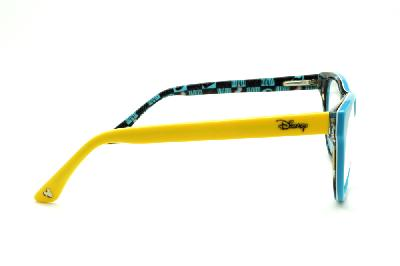 d8035bde0 ... Óculos Disney acetato azul claro e haste com desenhos amarela flexível  de mola