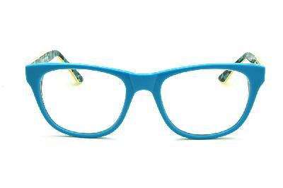 99fe62871 ... Óculos Disney acetato azul claro e haste com desenhos amarela flexível  de mola ...