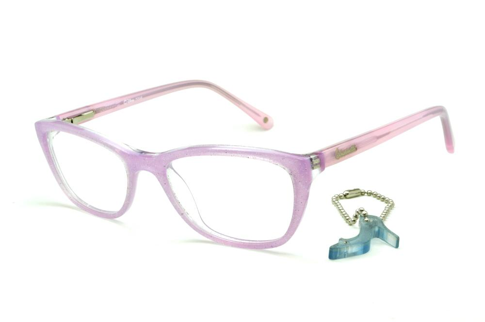 b6651751d Óculos Disney Princesa lilás e haste rosa bebê + chaveiro brinde