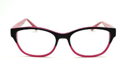 ... Óculos Disney acetato preto e pink e haste com desenhos rosê flexível  de mola ... 2858305eb7