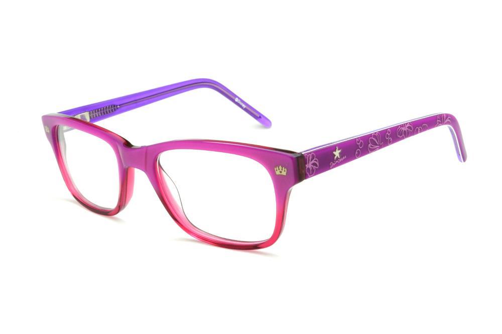 e20ed5881 Óculos Disney Princesa acetato roxo e pink mesclado com haste flexível de  mola