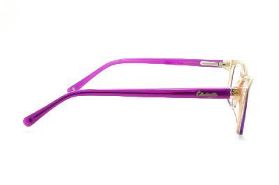b3a1f9728 ... Óculos Disney Princesa acetato roxo laranja claro mesclado com haste  roxa + chaveiro de brinde
