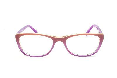 193b0e8cb ... Óculos Disney Princesa acetato roxo laranja claro mesclado com haste  roxa + chaveiro de brinde ...