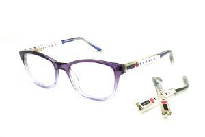 6641c8217b568 Óculos Disney acetato roxo mesclado com dupla haste colorida