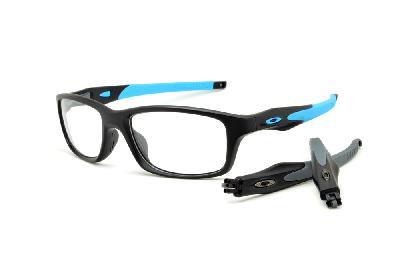 d91755337ba57 Óculos Oakley OX8030 Crosslink preto fosco com haste azul e cinza. Óculos  de Sol Oakley Flak Draft Cinza Azul - Compre Agora   Kanui Brasil