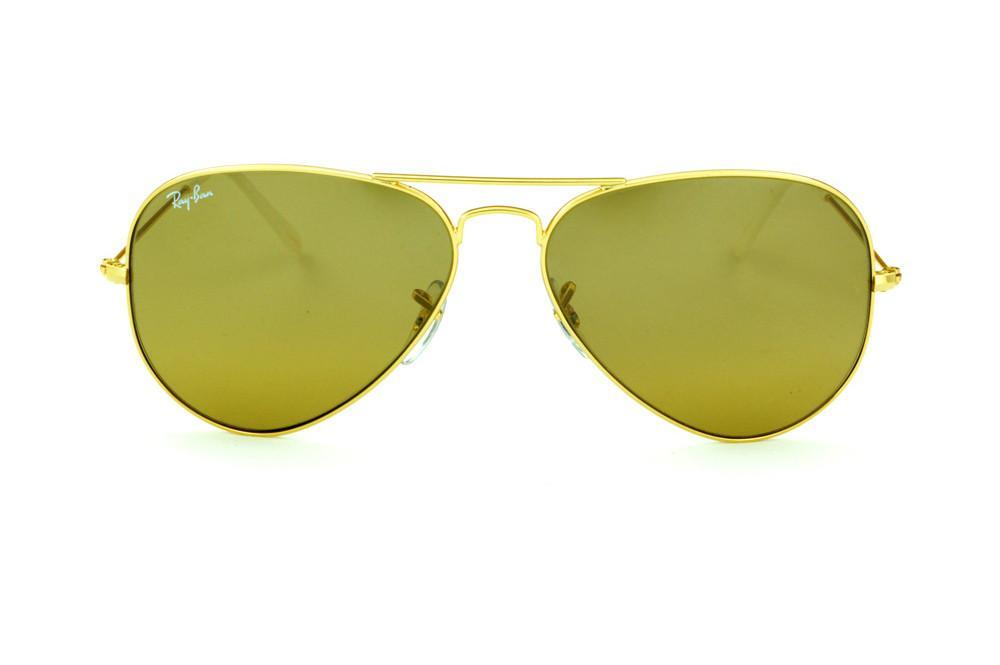 Óculos Ray-Ban Aviador RB3025 dourado lente marrom e951f4b12d