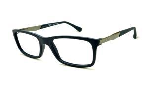 684f42b689543 Óculos Ray-Ban RB7040 Azul fosco com haste grafite de mola flexível