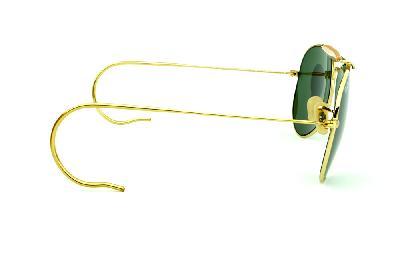7b2c79be0 ... Óculos Ray-Ban Caçador RB3030 Outdoorsman dourado lente verde G15  tamanho 58 ...