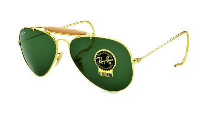 Óculos Ray-Ban Caçador RB3030 Outdoorsman dourado lente verde G15 tamanho  58 . 51f9abb925