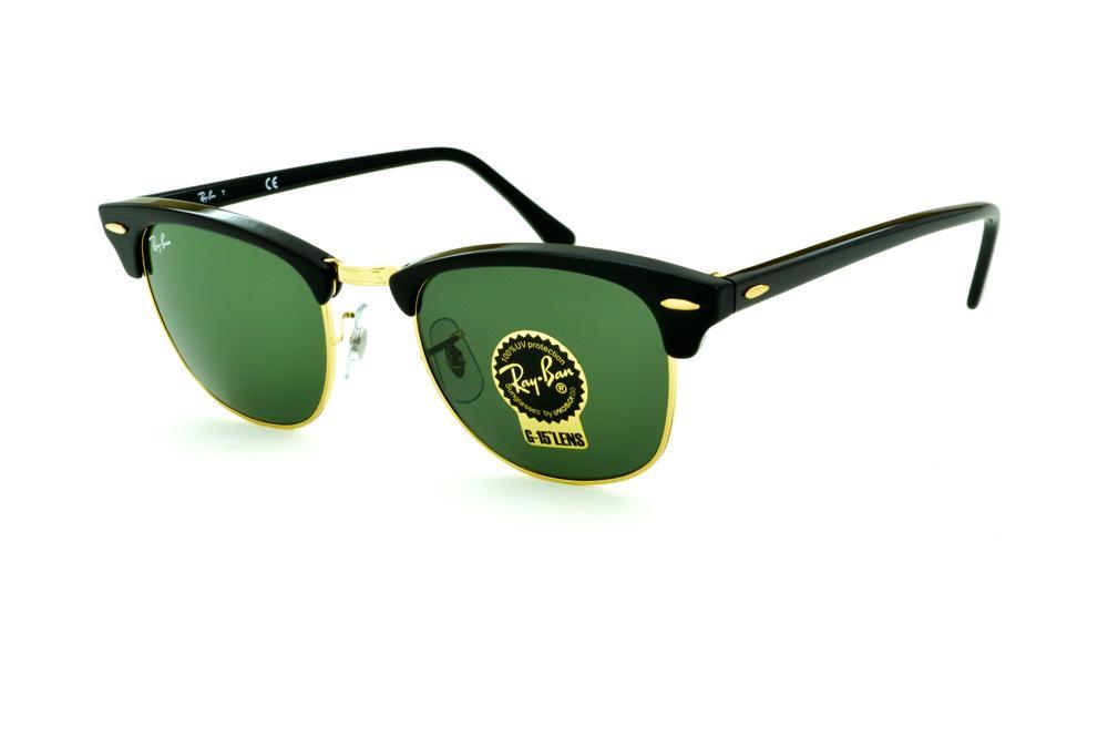 829407dd2 Óculos Ray-Ban Clubmaster RB3016 preto e dourado e lente G15