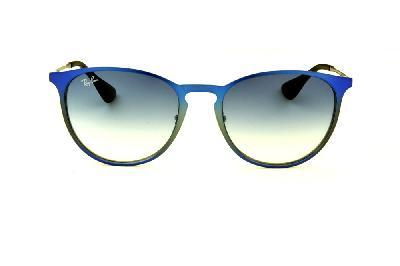 1dcae7774 ... Óculos Ray-Ban Erika Metal RB3539 azul e cinza com lente degradê ...