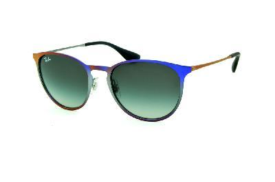 4ae4b248a Óculos Ray-Ban Erika Metal RB3539 roxo e cinza com lente degradê ...