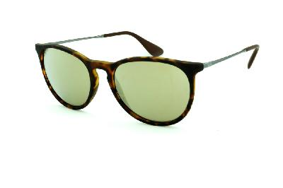 d9dc1cded11b8 Óculos Ray-Ban Erika RB4171 efeito onça lente espelhada dourada. Comprar  Oculos Ray Ban Original Paraguai ...