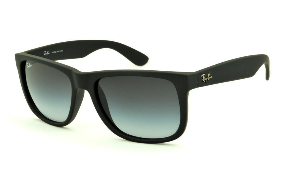 4d490696c Óculos Ray-Ban Justin RB4165 Preto fosco com lente degradê