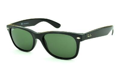 Óculos Ray-Ban New Wayfarer RB2132 Preto com lente verde ... 620286030c