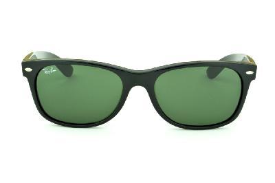 e569a4dcbb4ef ... Óculos Ray-Ban New Wayfarer RB2132 Preto com lente verde ...