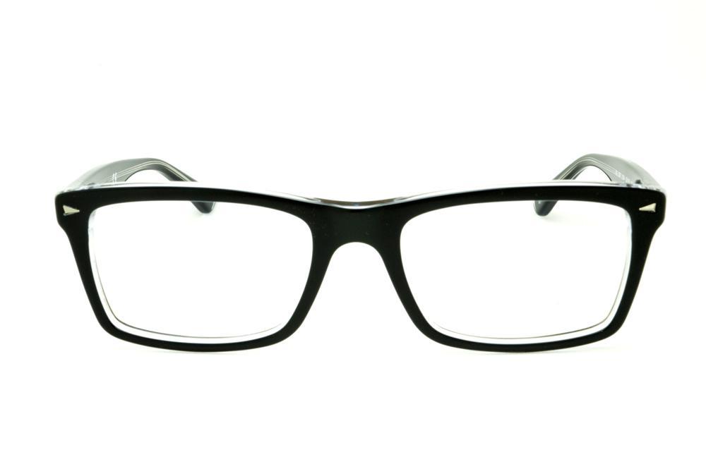 ba90fab0b6db6 Óculos Ray-Ban RB5287 Preto e Transparente haste flexível de mola