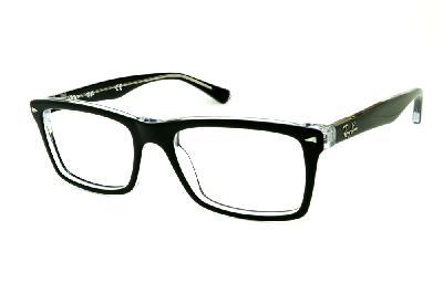 Óculos Ray-Ban Preto e Transparente com haste flexível de mola ... 4034163fed