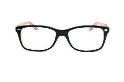 ... Óculos Ray-Ban RB5228 tamanho 55 Preto com haste estampada vermelho e escrita  branca ... 690e3bb0ce